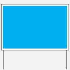 Azure Blue Solid Color Yard Sign