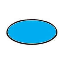 Azure Blue Solid Color Patches