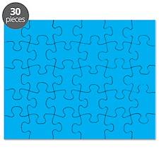Azure Blue Solid Color Puzzle