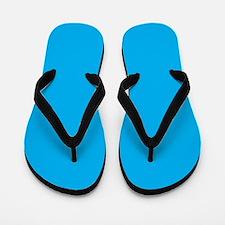 Azure Blue Solid Color Flip Flops