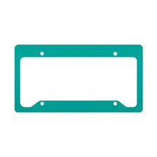 Turquoise Solid Color License Plate Holder