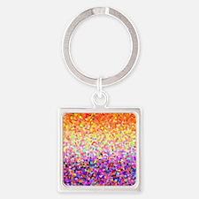 Orange Purple Sparkle Keychains