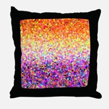 Orange Purple Sparkle Throw Pillow