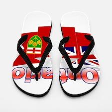 The Ontario flag ribbon Flip Flops