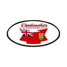 The Ontario Flag Ribbon Patches