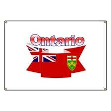 The Ontario flag ribbon Banner