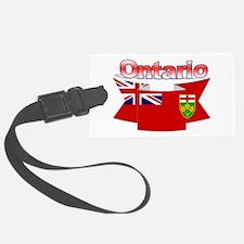The Ontario Flag Ribbon Luggage Tag