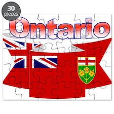 The Ontario flag ribbon Puzzle