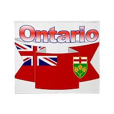 The Ontario flag ribbon Throw Blanket