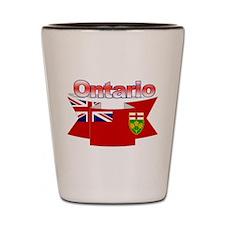 The Ontario flag ribbon Shot Glass