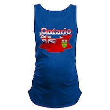 The Ontario flag ribbon Maternity Tank Top