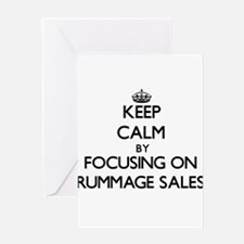 Keep Calm by focusing on Rummage Sa Greeting Cards