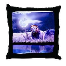 Contemplative Lion Throw Pillow