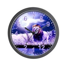 Contemplative Lion Wall Clock