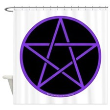 Purple Pentagram Shower Curtain