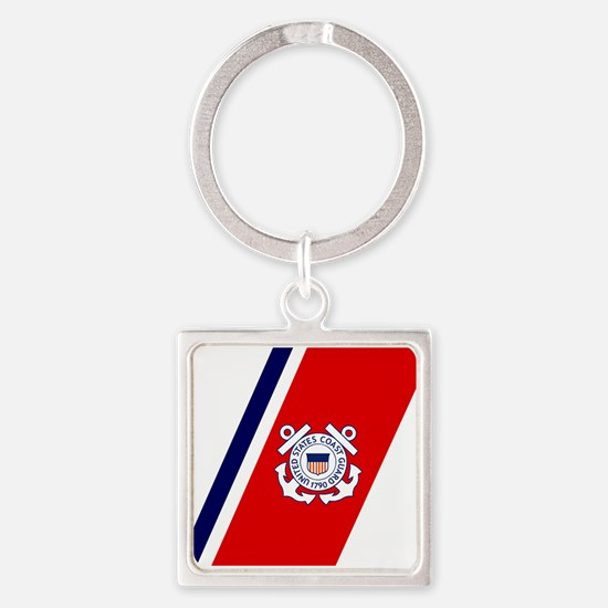 USCG-Racing-Stripe-... Keychains