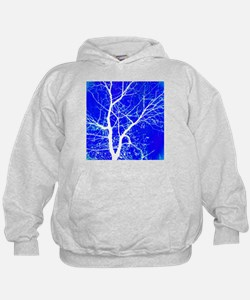 Tree with White Branches Hoodie