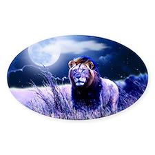 Contemplative Lion Sticker (oval)