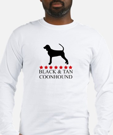 Black And Tan Coonhound (red  Long Sleeve T-Shirt