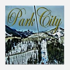 Park City Painted Poster Tile Coaster