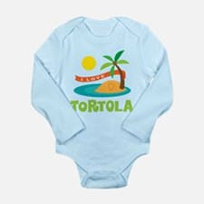 I Love Tortola Long Sleeve Infant Bodysuit