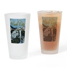Park City Painted Poster Drinking Glass
