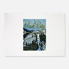 Park City Painted Poster 5'x7'Area Rug