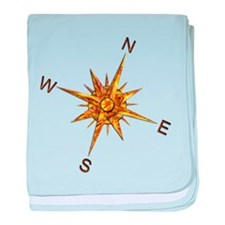Gold Compass Points baby blanket