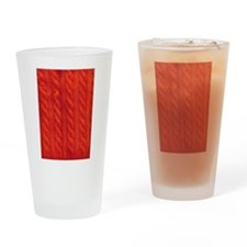 Wool cables in orange Drinking Glass