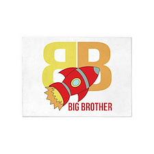 Rocket Ship Big Brother 5'x7'Area Rug