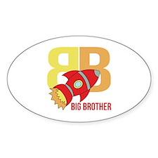 Rocket Ship Big Brother Decal