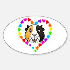 Guinea Pig Heart Frame Decal
