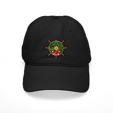 Nautical Ships Wheel Wreath with Bow Baseball Hat