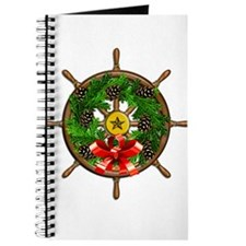 Nautical Ships Wheel Wreath with Bow Journal