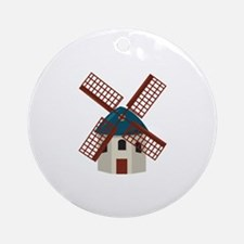 Windmill Ornament (Round)