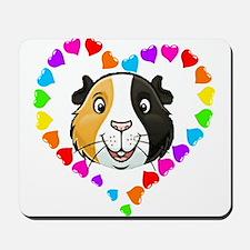 Guinea Pig Heart Frame Mousepad