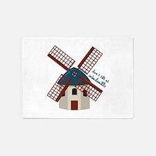 Tilt At Windmills 5'x7'Area Rug