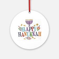 Hanukkah Ornament (Round)