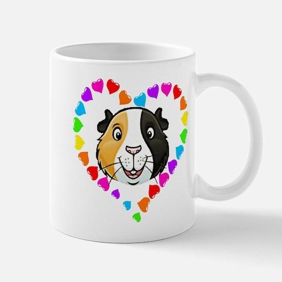 Guinea Pig Heart Frame Mugs