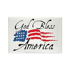 God Bless America v2 Rectangle Magnet (100 pack)