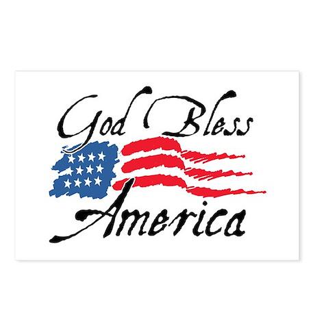God Bless America v2 Postcards (Package of 8)