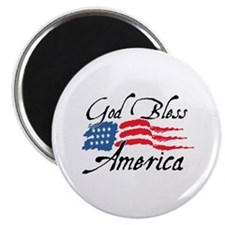 "God Bless America v2 2.25"" Magnet (10 pack)"