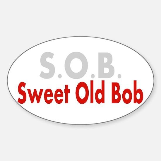 SOB Sweet Old Bob Decal