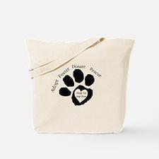 Paw print Tote Bag