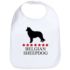 Belgian Sheepdog (red stars) Bib