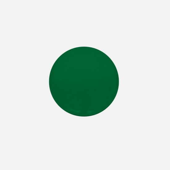 Dark Spring Green Solid Color Mini Button (10 pack
