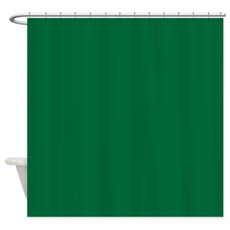Dark Spring Green Solid Color Shower Curtain By BeautifulBed