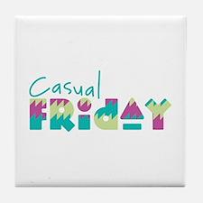 Casual Friday Tile Coaster