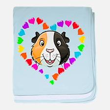 Guinea Pig Heart Frame baby blanket