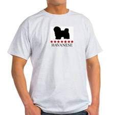 Havanese (red stars) T-Shirt